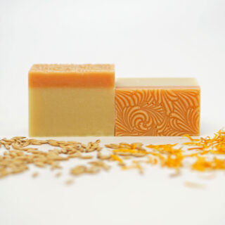 Jabón natural de avena y caléndula