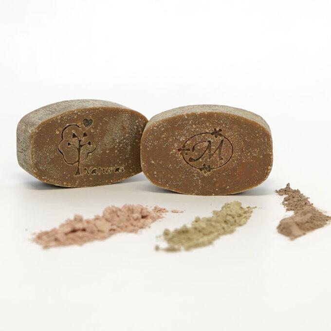 Jabón artesano de azufre y arcillas