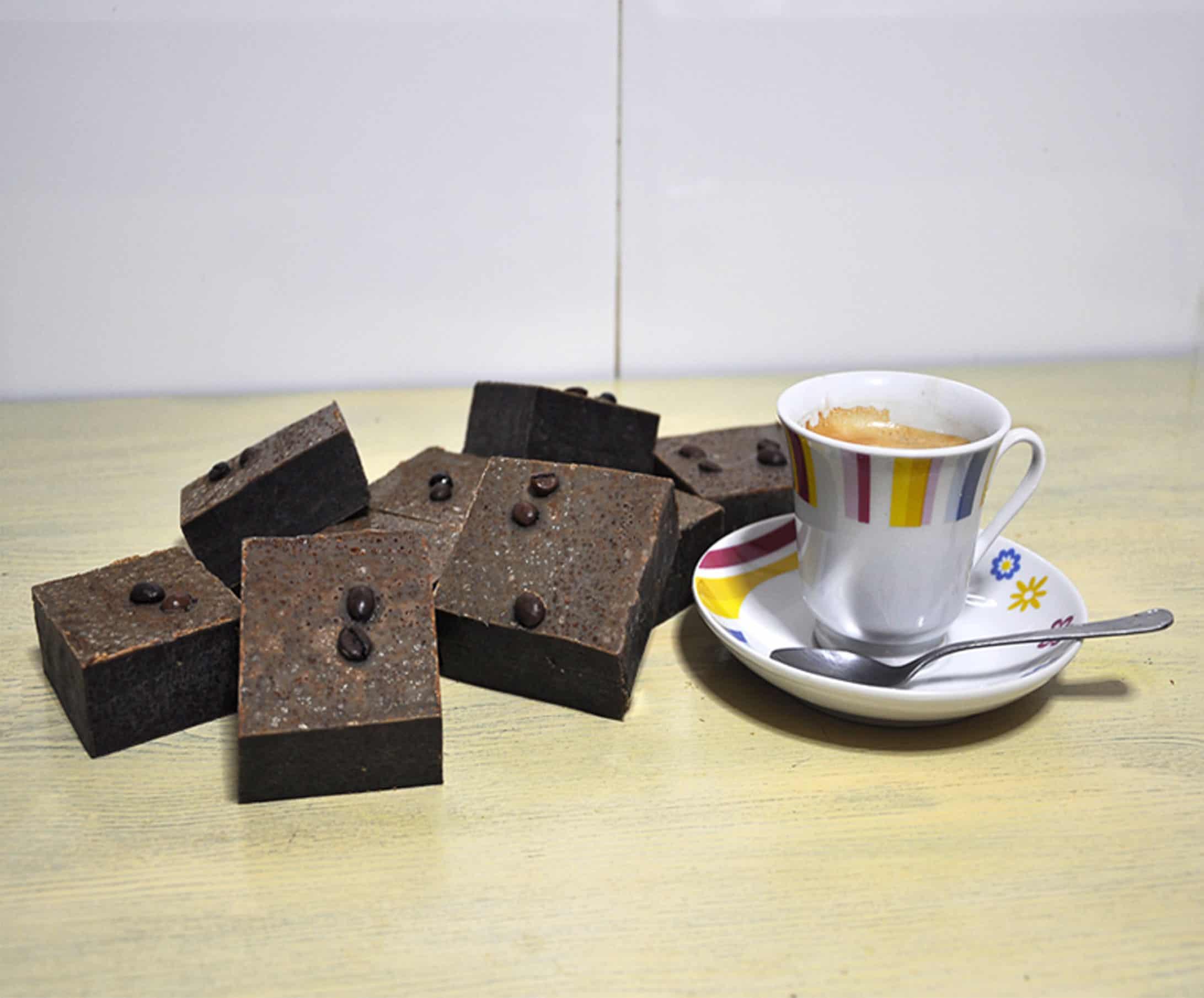 Jabón artesano de café