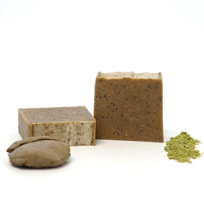 Jabón natural de algas y barros, jabón natural exfoliante